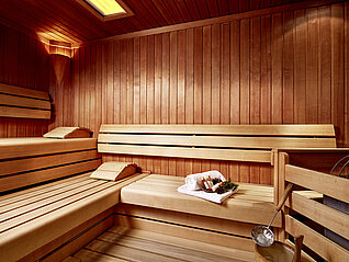 Sauna im Wellnesshotel in Kaprun